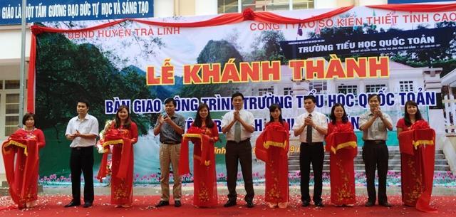 Trà Lĩnh: Khánh thành Trường Tiểu học Quốc Toản