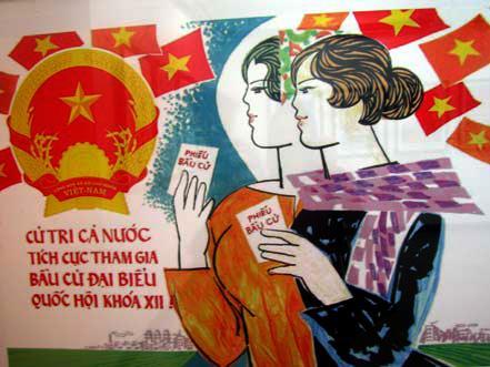 Thi sáng tác tranh cổ động kỷ niệm 70 năm Ngày Tổng tuyển cử đầu tiên
