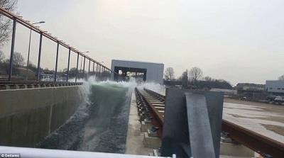 Máy tạo sóng chống lũ lớn nhất thế giới