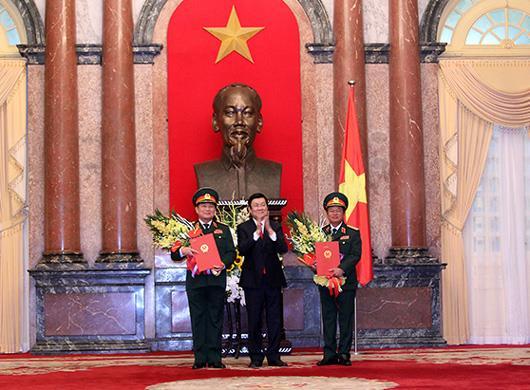Bộ Quốc phòng có hai tân Đại tướng