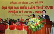 Khai mạc Đại hội đại biểu Đảng bộ tỉnh lần thứ XVIII, nhiệm kỳ 2015 - 2020