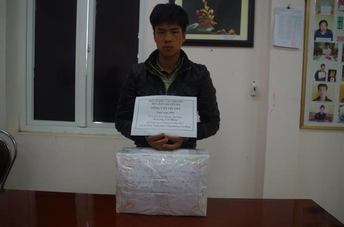 Cao Bằng: Bắt đối tượng chở 9 kg ma túy đá từ Trung Quốc về Việt Nam