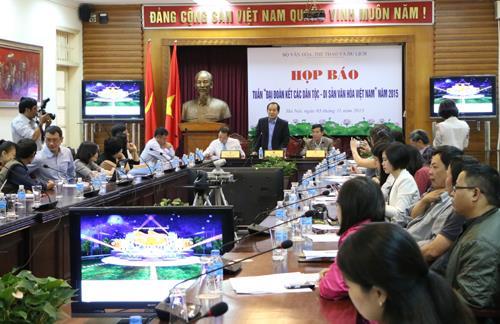 """Tuần """"Đại đoàn kết các dân tộc - Di sản văn hóa Việt Nam"""" năm 2015"""