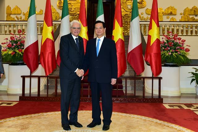 Thủ tướng Nguyễn Tấn Dũng hội kiến Tổng thống Italy