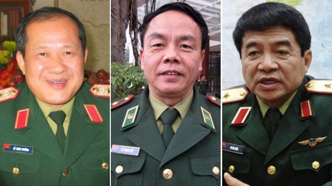 Bộ Quốc phòng có 3 tân Thượng tướng
