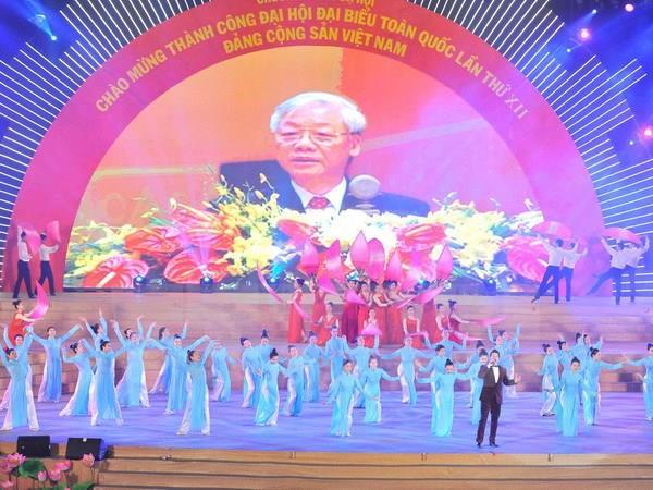 Từng bừng các hoạt động chào mừng thành công Đại hội XII của Đảng
