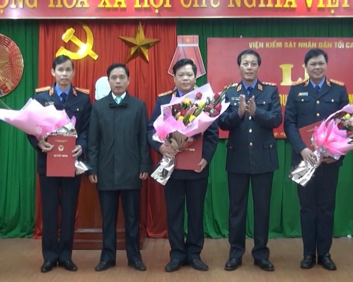 Trao quyết định bổ nhiệm  chức vụ Phó Viện trưởng VKSND tỉnh