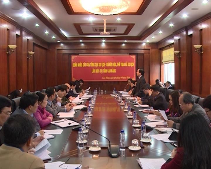 Đoàn khảo sát Tổng cục Du lịch làm việc với UBND tỉnh