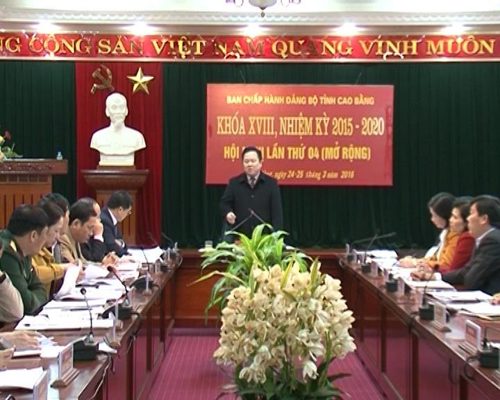 Hội nghị lần thứ 4 (mở rộng), Ban chấp hành Đảng bộ tỉnh khóa XVIII.