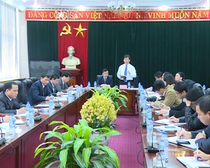 Ban Nội chính Trung ương làm việc với Thường trực Tỉnh ủy Cao Bằng.