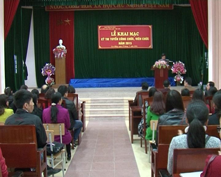 Toàn tỉnh 475 thí sinh bước vào kỳ thi tuyển viên chức năm 2015