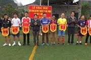 Phục Hòa: Thị trấn Hòa Thuận khai mạc giải bóng đá mini năm 2016