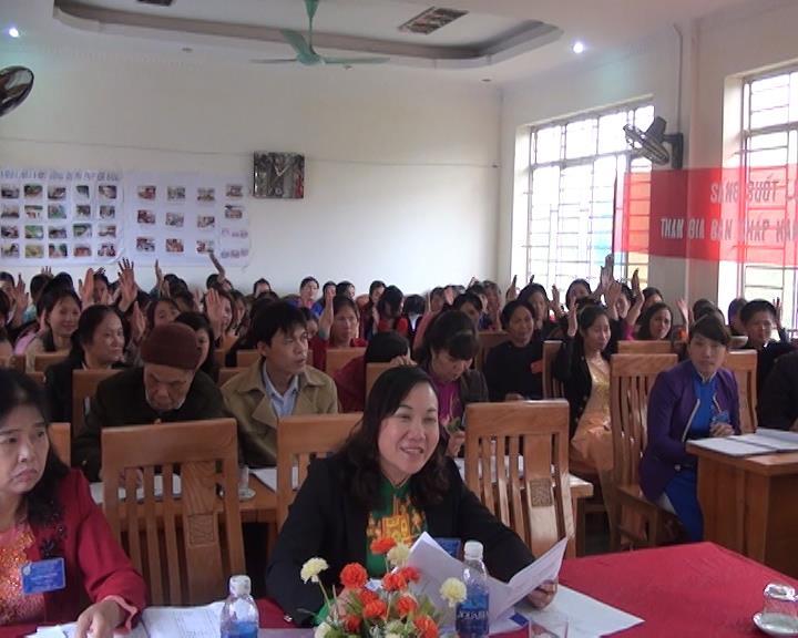 Thông Nông: Đại hội đại biểu Phụ nữ xã Lương Can lần thứ XV nhiệm kỳ 2016 - 2021