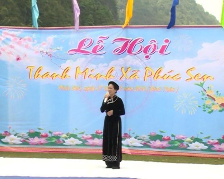 Lễ hội Thanh minh xã Phúc Sen, huyện Quảng Uyên