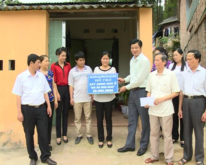 Công đoàn ngành Nông nghiệp: Hỗ trợ nhà mái ấm công đoàn cho đoàn viên khó khăn