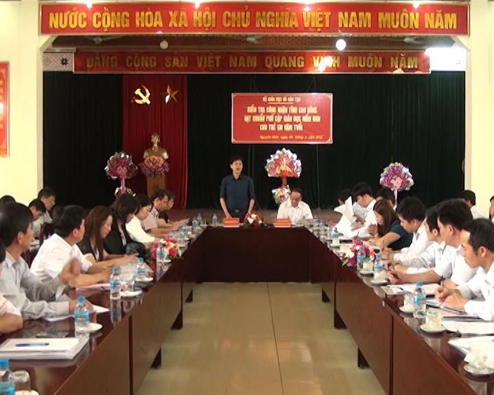 Bộ GD&ĐT kiểm tra công tác PCGDMD cho trẻ 5 tuổi tại huyện Trà Lĩnh, Quảng Uyên và Nguyên Bình