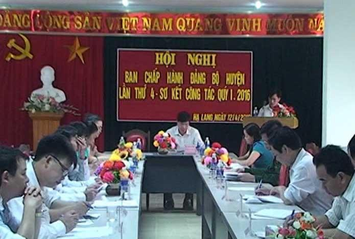 Hạ Lang: Hội nghị BCH Đảng bộ huyện lần thứ 4 khóa XV