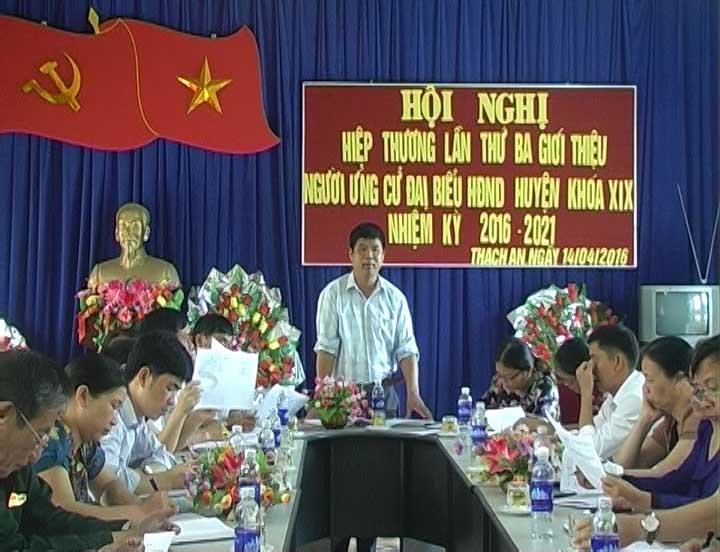 Thạch An: Hội nghị hiệp thương lần thứ ba giới thiệu người ứng cử đại biểu HĐND huyện khóa XIX, nhiệm kỳ 2016 - 2021