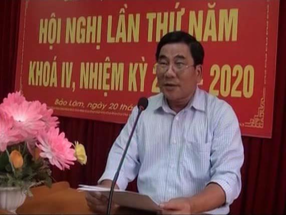 Bảo Lâm: Hội nghị Ban Chấp hành Đảng bộ huyện lần thứ 5, khóa IV (nhiệm kỳ 2015 - 2020)