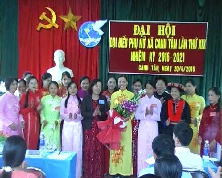 Thạch An: Đại hội đại biểu Hội Phụ nữ xã Canh Tân lần thứ XIX nhiệm kỳ 2016 - 2021