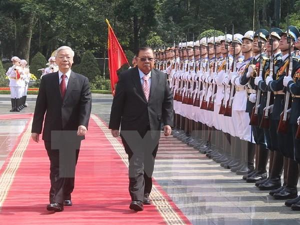 Tuyên bố chung nhân chuyến thăm của Tổng Bí thư, Chủ tịch nước Lào