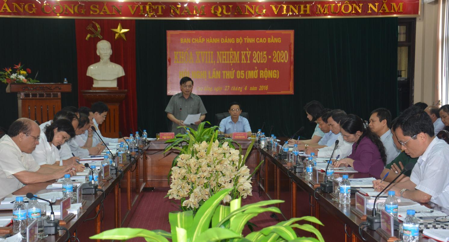 Hội nghị lần thứ 5 (mở rộng) Ban Chấp hành Đảng bộ tỉnh khóa XVIII