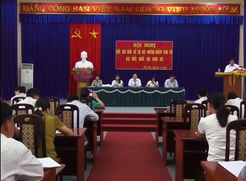 Ứng cử viên đại biểu Quốc hội khóa XIV tiếp xúc cử tri huyện Phục Hòa, Quảng Uyên