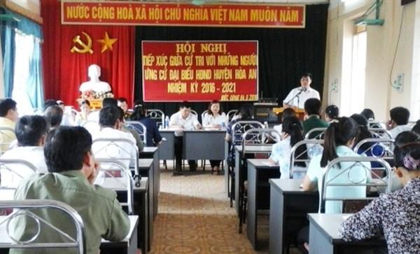 Hòa An: Ứng cử viên đại biểu HĐND huyện tiếp xúc cử tri tại xã Đức Long và thị trấn Nước Hai