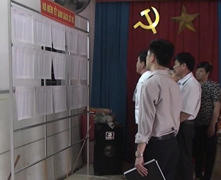 Thạch An: Kiểm tra công tác chuẩn bị bầu cử tại thị trấn Đông Khê
