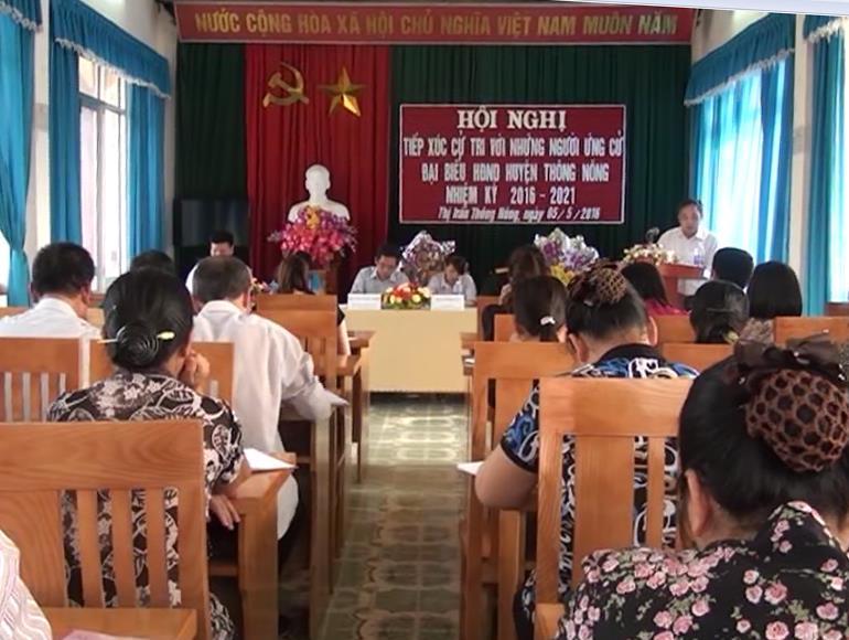 Thông Nông: Ứng cử viên đại biểu HĐND huyện tiếp xúc cử tri