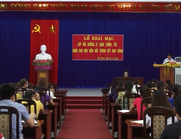 Phục Hòa: Khai giảng lớp bồi dưỡng lý luận chính trị cho 96 quần chúng ưu tú