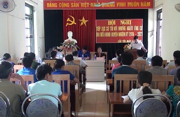 Ứng cử viên đại biểu HĐND huyện Thông Nông, Bảo Lạc và Thành phố tiếp xúc cử tri