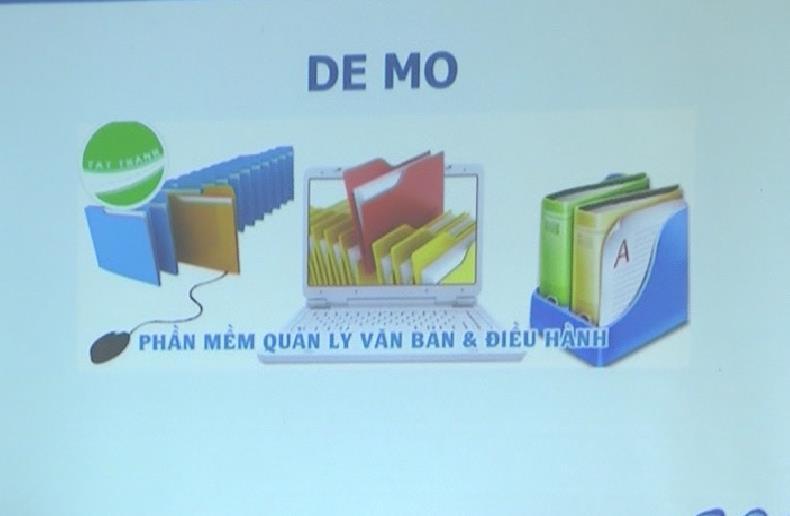 Thành phố, Quảng Uyên: Tập huấn sử dụng phần mềm Quản lý văn bản và điều hành công việc VNPT-iOffice