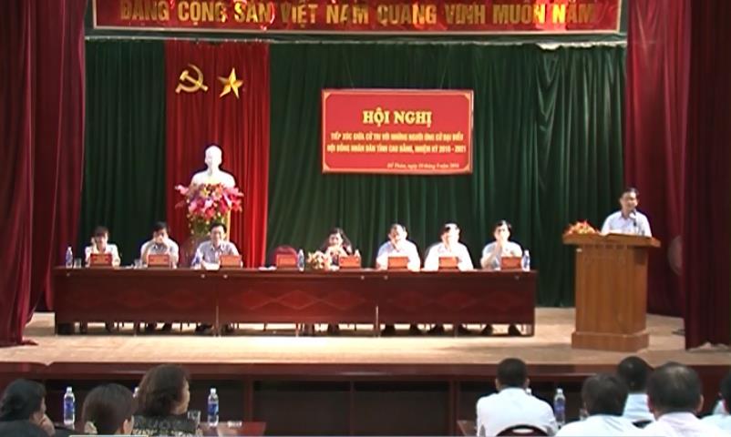 Ứng cử viên đại biểu HĐND tỉnh tiếp xúc cử tri tại các địa phương