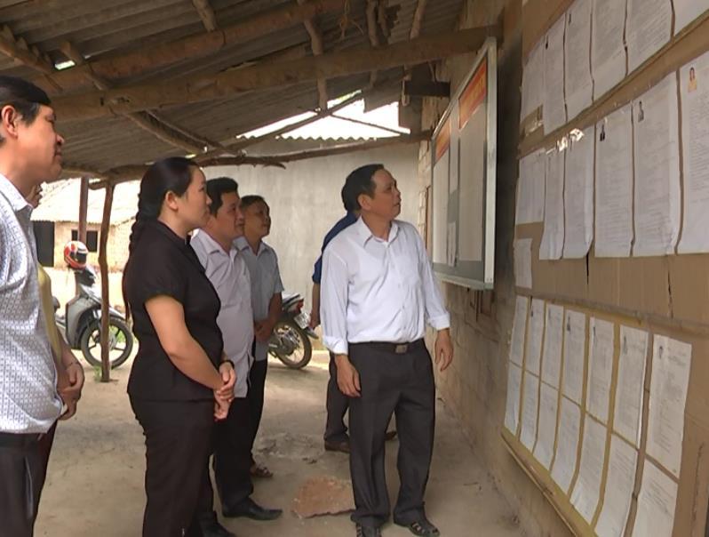 Hà Quảng: Kiểm tra công tác bầu cử