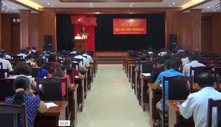 Đảng ủy Khối CCQ tỉnh: Hội nghị báo cáo viên thường kỳ