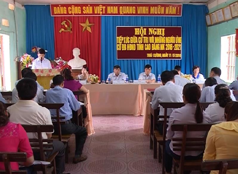Ứng cử viên đại biểu HĐND tỉnh  tiếp xúc cử tri các huyện, thành phố