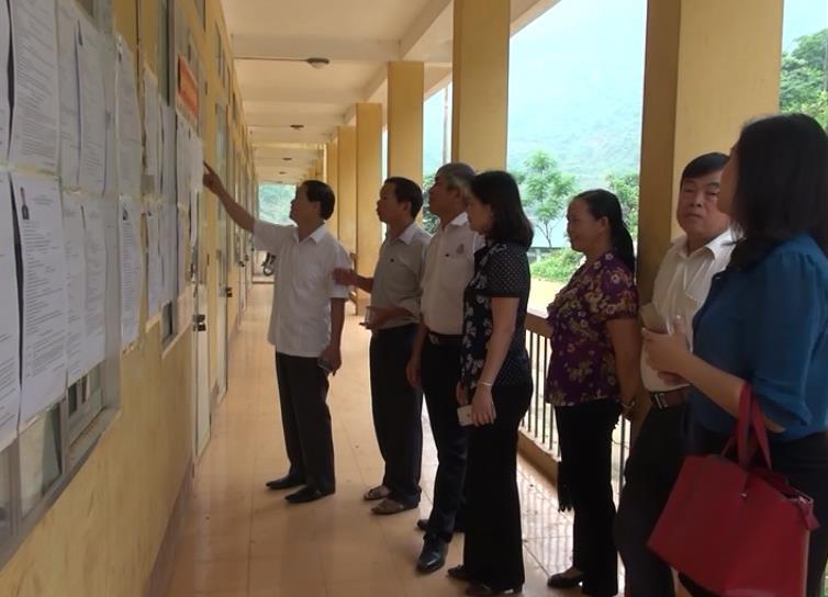Kiểm tra công tác chuẩn bị bầu cử tại các huyện Hà Quảng, Hòa An và Trà Lĩnh