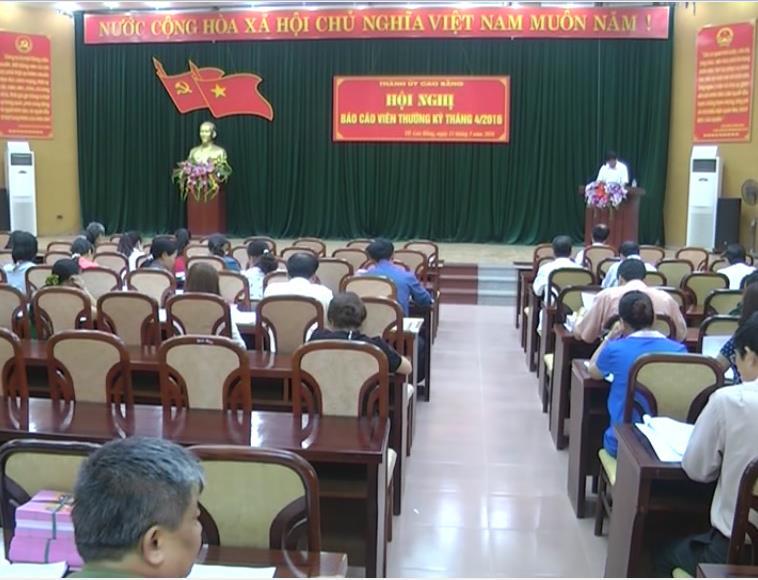 Thành ủy: Tuyên truyền về hình hình triển khai thực hiện công tác bầu cử