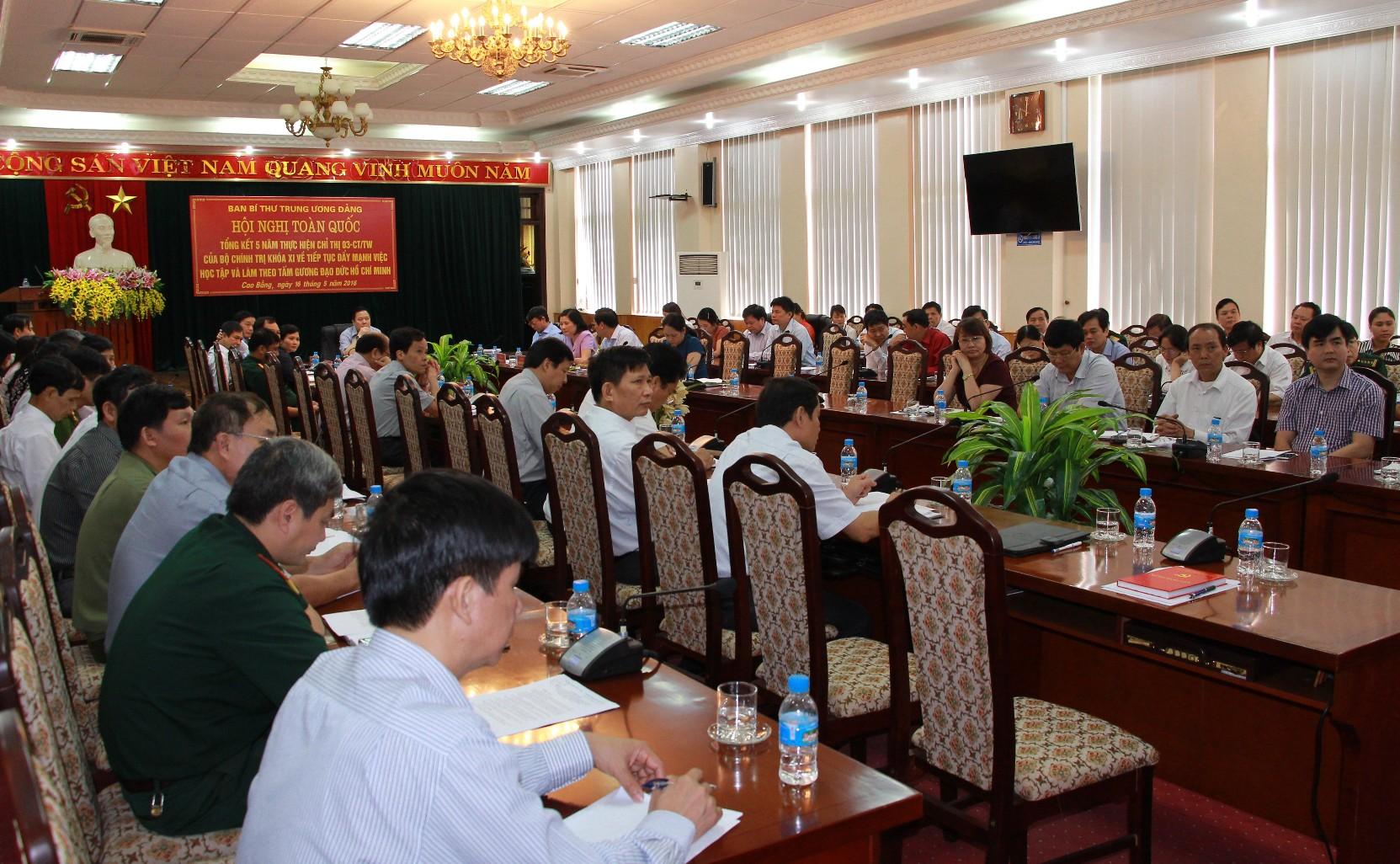 Tổng kết 5 năm thực hiện học tập và làm theo tấm gương đạo đức Hồ Chí Minh