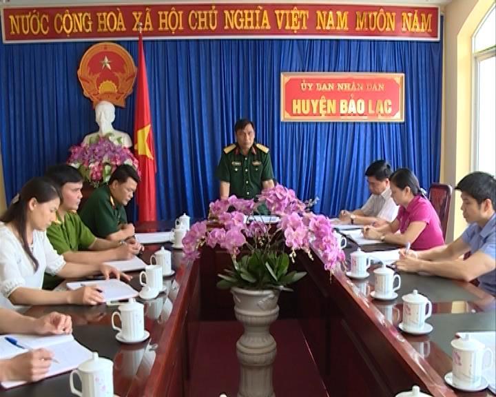 Kiểm tra công tác bầu cử tại huyện Bảo Lạc