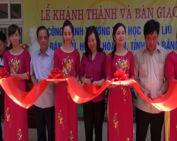 Hòa An: Khánh thành trường Tiểu học Lũng Lìu