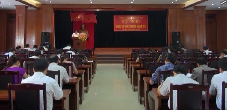 Đảng ủy Khối CCQ tỉnh: Hội nghị thông tin thời sự thường kỳ tháng 5