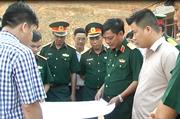 Thiếu tướng Ngô Minh Tiến, Tư lệnh Quân khu 1 thăm và làm việc tại Thạch An