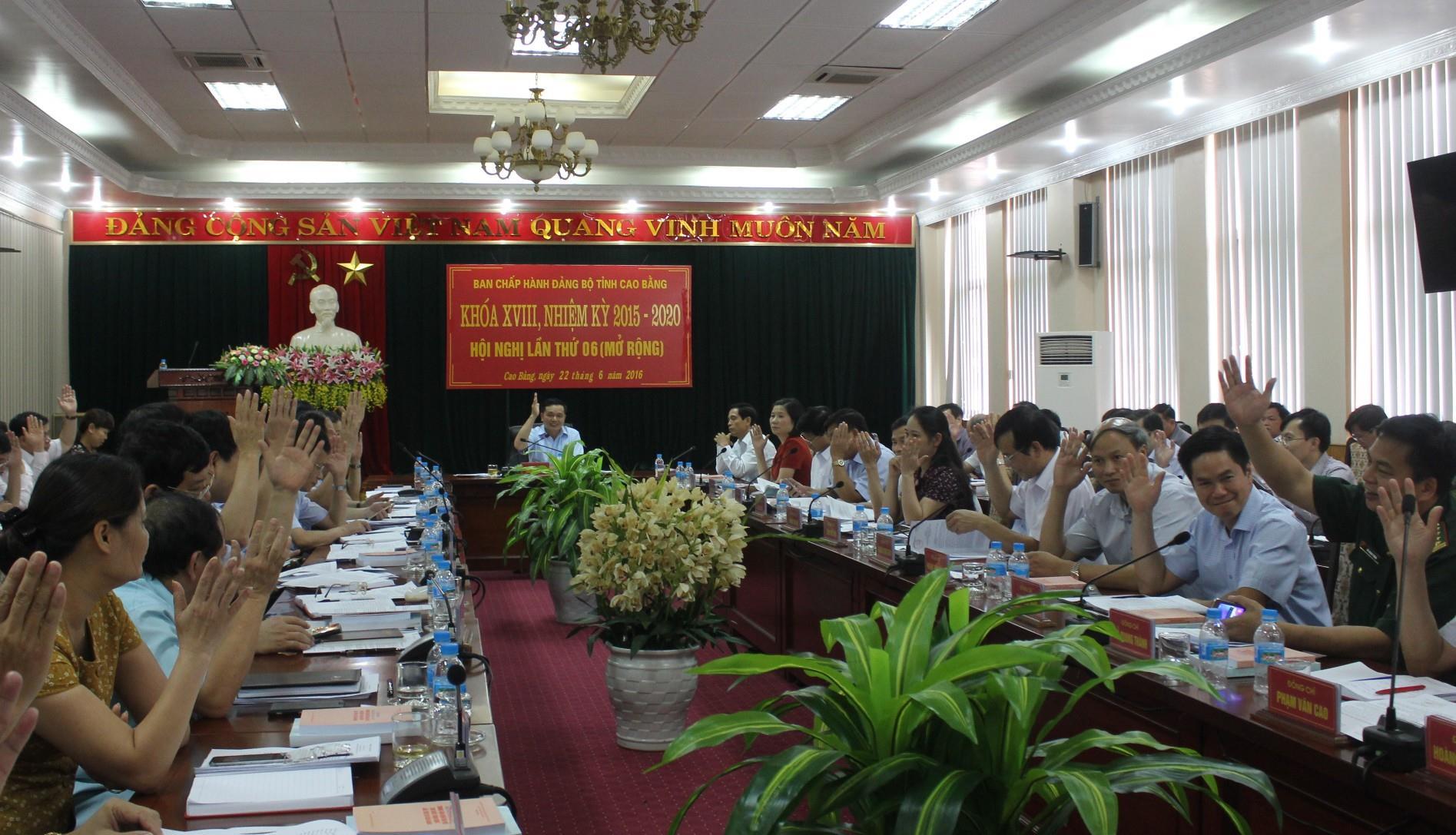 Hội nghị Ban Chấp hành Đảng bộ tỉnh khóa XVIII lần thứ 6 (mở rộng)