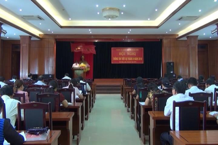 Đảng uỷ khối CCQ tỉnh tổ chức Hội nghị báo cáo viên thường kỳ tháng 6/2016
