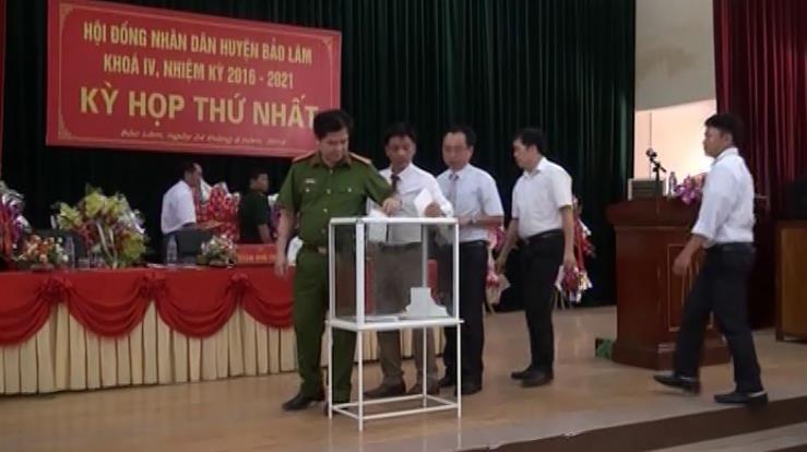 Đồng chí Ma Thế Tuyết được bầu giữ chức Chủ tịch HĐND huyện Bảo Lâm