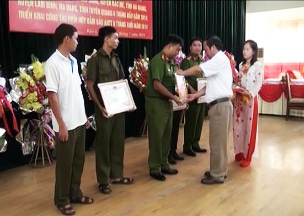 Bảo Lâm: Sơ kết công tác phối hợp đảm bảo an ninh trật tự khu vực giáp ranh
