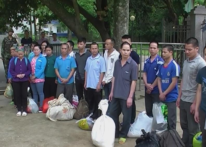 Đồn BPCK Trà Lĩnh: Tiếp nhận 19 công dân Việt Nam vi phạm quy chế xuất nhập cảnh từ Trung Quốc