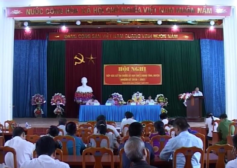 Đại biểu HĐND tỉnh tiếp xúc cử tri huyện Quảng Uyên, Hạ Lang